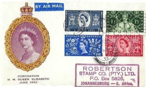 1953 Coronation, Yellow Cameo Illustrated FDC, London W2 Long Live the Queen Slogan + London W2 cds