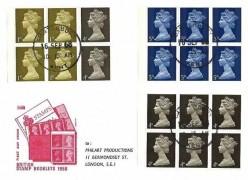 1968 10/- Scott Booklet 3 Panes on Philart FDC, Canterbury Kent cds