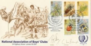 1985 British Insects NABC Official FDC, National Association of Boys' Clubs Diamond Jubilee  Abercrave Centre Swansea H/S