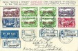 1932 New Zealand Registered First Flight Cover Wellington to Hokitika and return, Registered Wellington & Hokitika cds