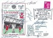 1972 Liverpool Ninth Successive Year in Europe Dawn Football Cover, 9th Successive Year in Europe Liverpool FC Kick Off UEFA Cup H/S, signed by 9 Players
