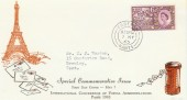 1963 Paris Postal Conference Phosphor Set. Illustrated FDC. Fareham cds