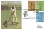 1973 County Cricket Centenary, TCCB Official FDC Lord's Exhibition H/S.