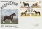 1978 Horses Shire Horse Society SP Official FDC, Royal Show Kenilworth H/S