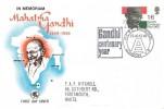 1969 Gandhi Wessex FDC, Gandhi Centenary Year, HCRC Exhibition E8 H/S