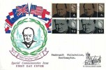 1965 Sir Winston Churchill Phosphor & Ordinary on FDC, Bladon FDI