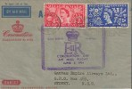 1953 Coronation. Qantas Air Letter FDC, with Airmail Flight Great Britain Australia Cachet
