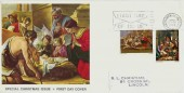 1967 Christmas 3d & 1/6d Tate Gallery FDC with First Day of Issue Bethlehem Slogan