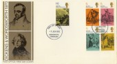 1970 Literary Anniversaries Dickens & Wordsworth FDC, Cockermouth FDI