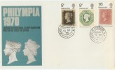 1970 Philympia Stamp Exhibition FDC, House of Commons SW1 cds