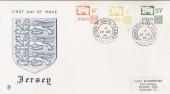1974 6p,7p,25p Jersey Postage Dues on Stuart FDC