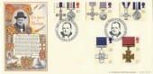 1990 Gallantry Bradbury LFDC No.91 Official FDC The Spirit of Britain SW1 H/S