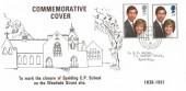 1981 Royal Wedding  Spalding CP School Closure FDC, Spalding Lincs. cds, RARE Cover