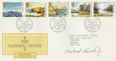 1981 National Trust, Post Office FDC, First Day of Issue Keswick H/S, Signed by Stamp Designer Michael Fairclough