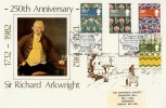 1982 British Textiles Arkwright Society Official FDC. Matlock H/S
