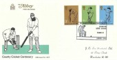 1973 County Cricket Abbey FDC, Lord's London NW8 H/S