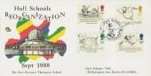 1988 Edward Lear Perronet Thompson School Hull Official FDC, Hull Schools' Reorganisation H/S