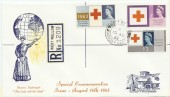 1963 Red Cross Registered FDC West Wellow cds. Florence Nightingale Buried Here