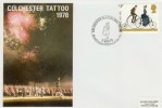 1978 Cycling Centenary, Colchester Searchlight Tattoo Official FDC, Colchester Searchlight Tattoo BF 1606 PS H/S