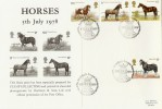 1978 Shire Horse Society, Stamp Collecting card mounted on FDC