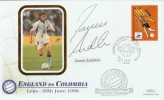 1998 World Cup England v Colombia Lens France Cover, signed by Darren Anderton