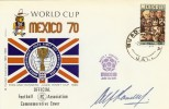 1970 Mexico 70 World Cup Cover, Signed by Sir Alf Ramsey