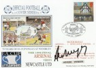 1998 Dawn Football Cover, Arsenal v Newcastle Utd FA Cup Final, Signed by Arsene Wenger