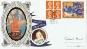 1997 £1.04 Hong Kong Label Official Benham BLCS127,Hong Kong Farewell London SW1 H/S, Signed by Michael Howard MP