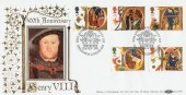 1991 Christmas 500th Anniversary Henry VIII Benham BLCS69 Official FDC
