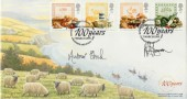 1989 Food & Farming, Covercraft Official FDC, Ministry of Agriculture Fisheries & Food 100 Years London SW1 H/S, Signed by Stamp & Cover Designers