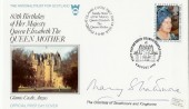 1980 80th Birthday Queen Mother, National Trust For Scotland FDC, Signed