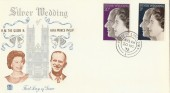 1972 Silver Wedding, Stuart FDC, House of Lords SW1 cds