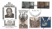 1965 Sir Winston Churchill WSC FDC, Double Dated with VE Day 1995, Cardiff FDI