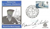 1967 Sir Francis Chichester, Pure New Wool FDC. Signed by Francis Chichester, Sir Francis Chichester Plymouth Devon H/S