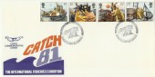 1981 Fishing Catch'81 Official FDC, Falmouth Cornwall H/S