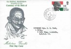 1969 Gandhi, 7th Signal Regiment Stamp Club FDC, FPO 988 cds