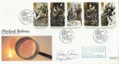 1993 Sherlock Holmes Royal Mail FDC, Windlesham Manor H/S. Signed by Susan Carey