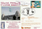 1993 FA Cup Final Arsenal v Sheffield Wednesday Cover .Signed by George Graham