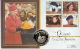 2002 Tristan da Cunha Queen's Golden Jubilee Coin FDC
