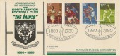 1980 Sporting Anniversaries, Centenary of the Northampton Saints RFC Official FDC, The Saints Northampton H/S