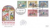 1979 Christmas, Official British Library FDC No.13, Christmas The British Library London WC H/S