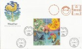 2001 The Weather Miniature Sheet, Promoting Meteorology & Related Sciences, Meter Mark FDC