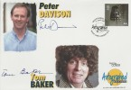 1999 Entertainers' Tale, Westminster Autographed Editions FDC, signed by Dr Who Actors Tom Baker & Peter Davison.