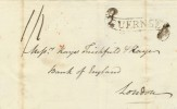 1817 Wrapper to the Bank of England London from Guernsey, with Guernsey Scroll