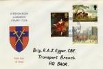1967 British Painting, Rheindahlen Garrison Stamp Club FDC, Forces Post Office 50 cds