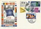 1969 Notable Anniversaries, Philart FDC, RARE NATO HQ BF 1080 PS H/S