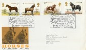 1978 Shire Horse Society, PO FDC, Scarce, Big Four Railway Museum Bournemouth H/S