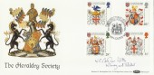 1984 Heraldry, Benham BOCS(2)24 Official FDC, Signed Society Founder President