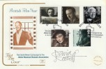 1985 British Film Year, David Niven, Cotswold Official FDC. Signed by David Kossoff