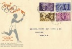 1948 Olympic Games  Wembley FDC, Olympic Games Wembley Slogan & Wembley cds